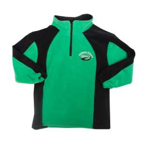 Maheno School 1/4 Zip Fleece Apple/Black